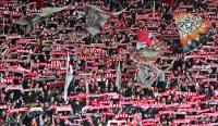 Schalparade der Fans des 1. FC Union Berlin