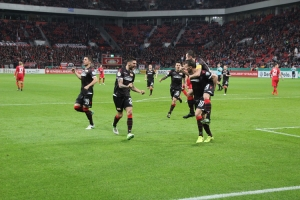 Spielszenen Union Berlin in Leverkusen 24-10-2017