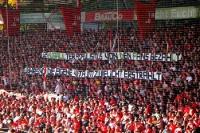 Spruchband beim Spiel gegen FSV Frankfurt