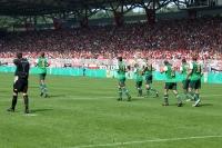 Spieler des SV Werder Bremen nach einem Treffer