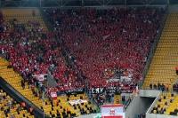 Fans / Ultras des 1. FC Union Berlin beim Gastspiel bei der SG Dynamo Dresden
