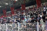 Aue-Fans beim Spiel in Berlin