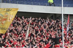Union Berlin Fans in Duisburg
