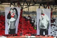 Schulter an Schulter für Eisern Union - Choreographie der Fans und Ultras