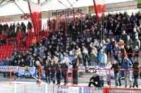 Fans von Arminia Bielefeld bei Union Berlin
