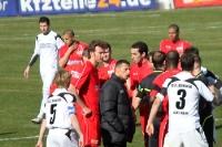 Emotionen beim Spiel gegen Arminia Bielefeld