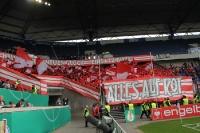 Union Fans Choreo Pokalspiel in Duisburg