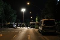Union in Essen: Polizeieinsatz vor dem Gästebereich