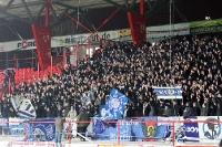 Fans des KSC und von Hertha BSC beim 1. FC Union Berlin