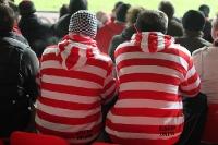 Union-Fans auf der Sitzplatztribüne