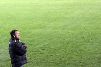 Union-Trainer Uwe Neuhaus ... und viiiiel grüner Rasen
