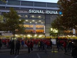 Westfalenstadion vor Pokalspiel gegen Union Berlin 2016