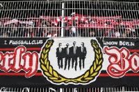 Zaunfahne im Stadion An der Alten Försterei