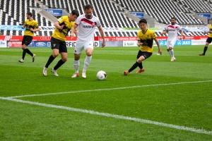 Simon Engelmann Rot-Weiss Essen vs. Alemannia Aachen Spielszenen 15-05-2021