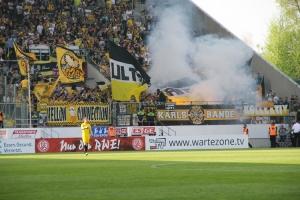 Aachen Fans: Choreo und Pyro in Essen April 2018