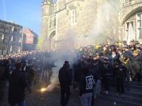 Aachen Fans vor dem Spiel gegen RWE