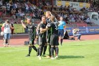 Jubel über 1:0 der Aachener in Oberhausen