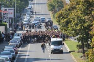 Marsch Aachen Ultras Karlsbande zum Stadion