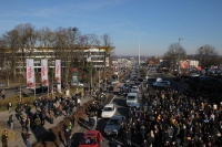 Marsch Aachener Fans zum Stadion