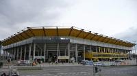 Außenansicht des Stadions Tivoli von Alemannia Aachen