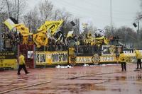 Support der Aachener Fans in Bochum