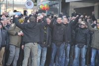 Szene Aachen Marsch zum Tivoli vor RWE Spiel