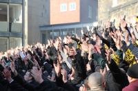 Szene Aachen Mob-Foto vor RWE-Spiel