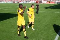 Enttäuschte Spieler von Alemannia Aachen nach der 0:2-Niederlage bei Union Berlin