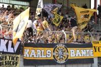 Unterstützung Aachener Fans in OB