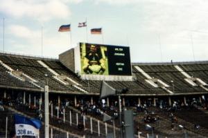 Anzeigetafel im Berliner Olympiastadion