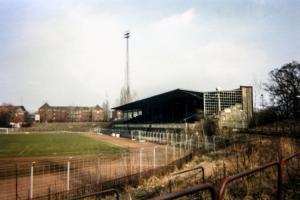 Berliner Poststadion als Ruine