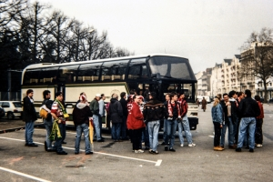 Fans von Bayer 04 Leverkusen auf EC-Tour