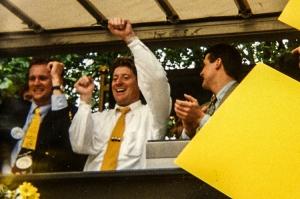 Harald Schumacher bei der Meisterfeier