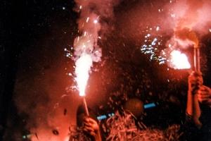 Pyrotechnik in den 90ern