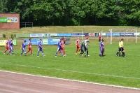 Einlaufen der Mannschaften im Kurt Bürger Stadion