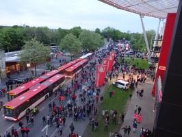 Bayarena Leverkusen nach dem Spiel