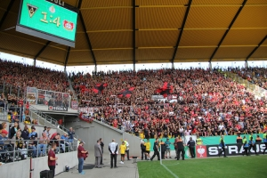 Bayer 04 Fans Support in Aachen 2019