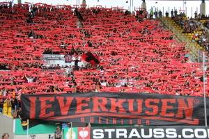 Choreo Bayer 04 Fans in Aachen 2019