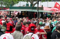 Bayer 04 Leverkusen zu Gast in Berlin beim DFB-Pokalfinale 2009 gegen Werder Bremen