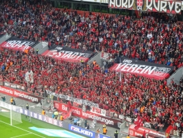 Spruchband Nordkurve Leverkusen
