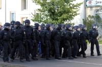 Polizeiliche Maßnahmen vor dem Berliner Derby