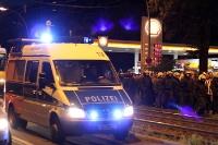 Abmarsch der Hertha-Fans nach dem Derby