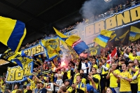 Bröndby IF at home in Bröndby Stadium, Copenhagen
