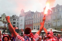 Croatian fans with pyrotechnics, Euro 2012