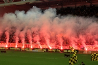 fireworks before the match Vitesse Arnhem vs. Feyenoord Rotterdam
