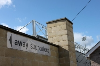 stand for away supporters in Portadown, Northern Ireland