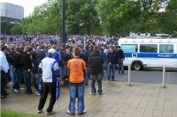 supporters march of FC Schalke 04
