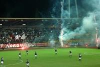Pyrotechnik beim Berliner Derby BFC Dynamo - 1. FC Union II