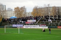 Gästeblock beim Spiel BFC Dynamo - Tennis Borussia Berlin