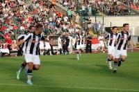 Kevin Gutsche erzielt das 1:0 des BFC Dynamo